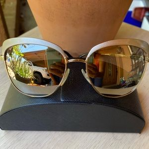 PRADA Gold Mirrored Cat Eye Sunglasses 🕶🌺MINT🔥